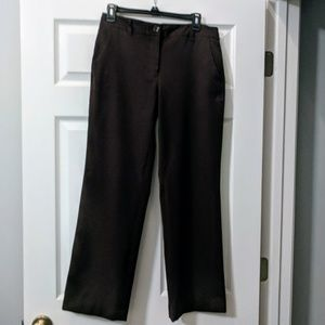 Talbots stretch dark brown trouser pants size 6