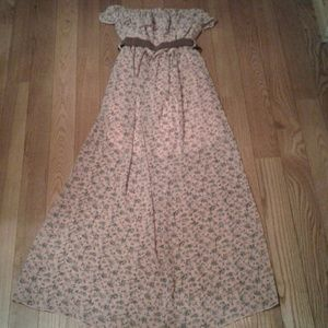Long layered Boho dress in Pink