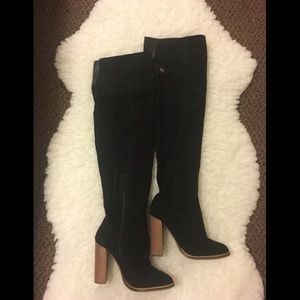 Over the Knee Thigh High Suede Boots