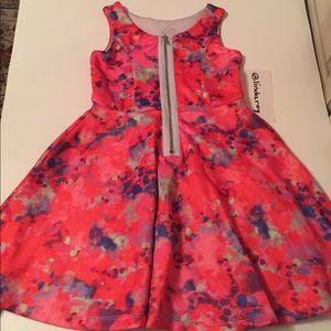 Pippa & Julie Girls Abstract Design Dress