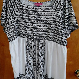 Woman Within Smocked Tunic - Size 1X