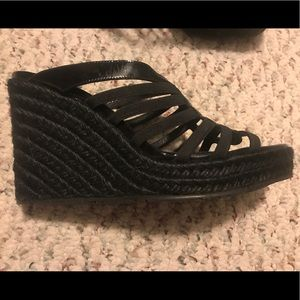 Black Donald Pilsner wedges brand new size 6.