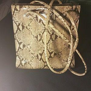 Nine west, snake leather bag.