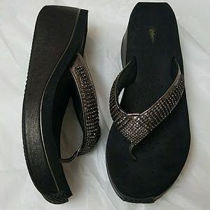 Volatile Fairydust Wedge Sandal Flip Flop 8.5