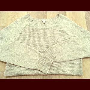 J. Crew Warmspun Waffle Knit Crewneck Sweater