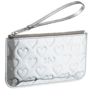 Marc Jacobs Silver Heart Wristlet Limited Edition