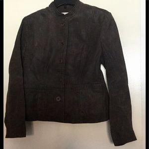 City DKNY petite leather blazer