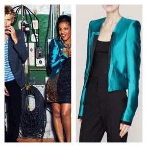 As seen on Carrie diaries Charmeuse Cropped blazer