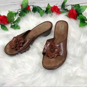 Victoria Spenser 8.5 Brown Leather Wedge Sandals