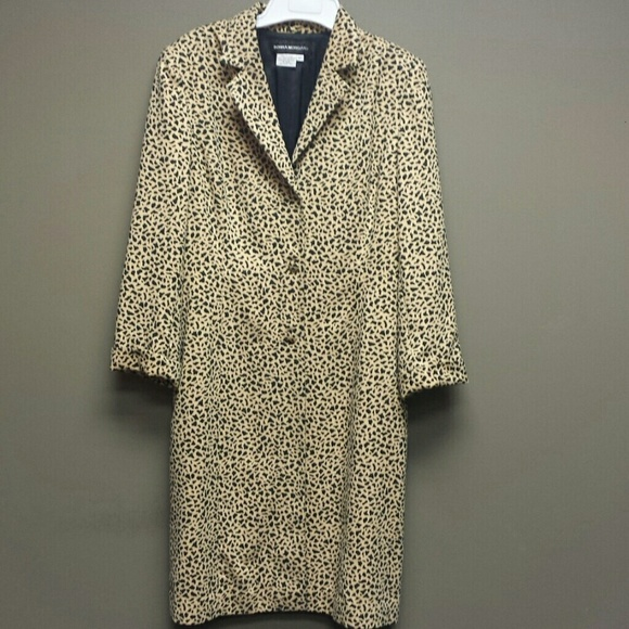 eaf31bff089f1 Donna Morgan Jackets & Coats | New Animal Print Coat Jacket 12 ...