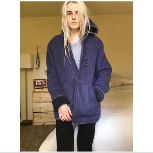90s VTG Cozy Hoodie Fleece Jacket