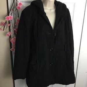 Croft & Barrow Hooded Thick Coat