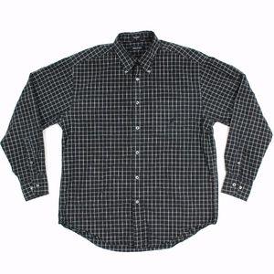 Nautica Dress Shirt Long Sleeve Men VTG 90s Size L