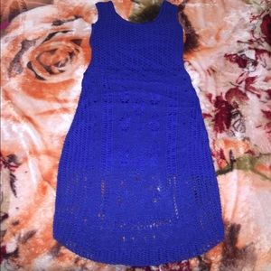New bebe crochet dress size small