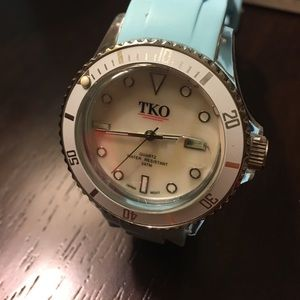Watch with turquoise strap