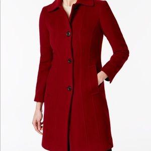Ann Klein Red Walker Coat