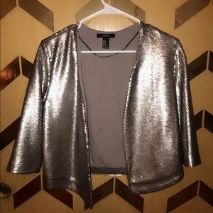 Crop Sequin jacket