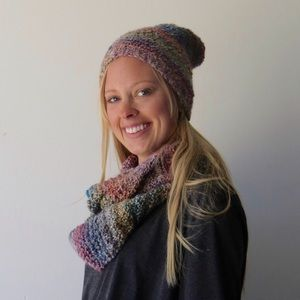 Southwest infinity scarf and beanie