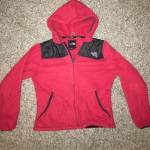 Red The North Face Fleece Jacket