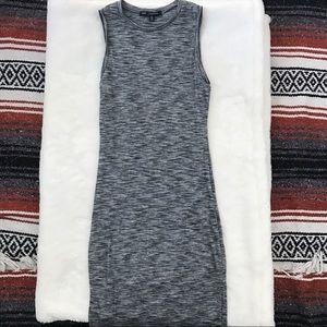 Gray Marled Sleeveless Bodycon Dress
