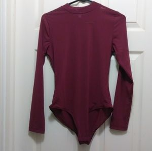 Tops - Burgundy Bodysuit