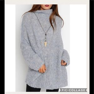 NWT Free People She's All That Blue Sweater