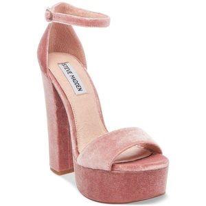 New Steve Madden Gonzo Pink Velvet Heels