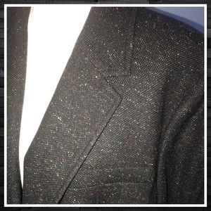 Talbots Black Wool Blazer with Colorful Flecks