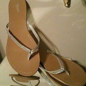 Bridal flip flops.