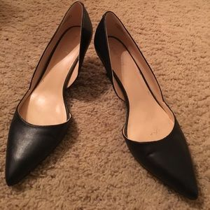 Nine West navy heels
