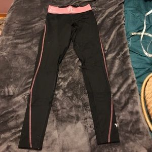 VSPINK black and pink Ultimate leggings