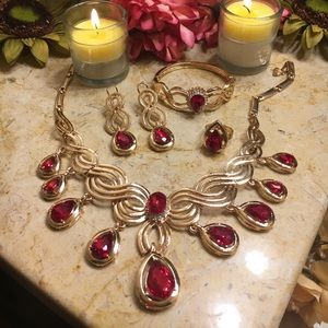 Indian style Bollywood gold plated jewelry set