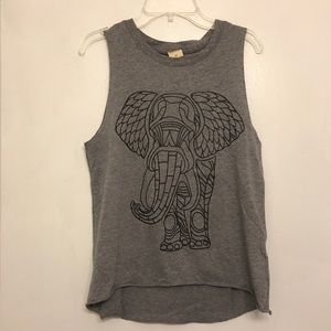 Grey Hollister graphic muscle tank