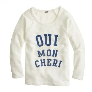 Blogger favorite J.Crew oui mon cheri sweater