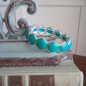 NWT!Liz Claiborne Faux Turquoise Stretch Bracelet
