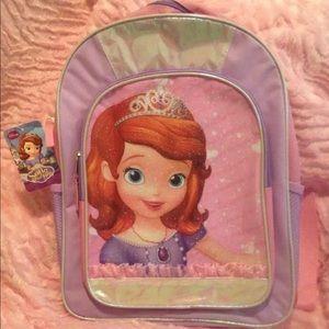 Disney Junior Sophia The First Backpack NWT