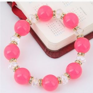 Pink gold and clear bracelet