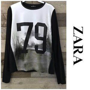Zara Collection Tree Scape Printed Top
