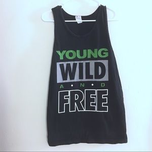 YOUNG WILD AND FREE TANK
