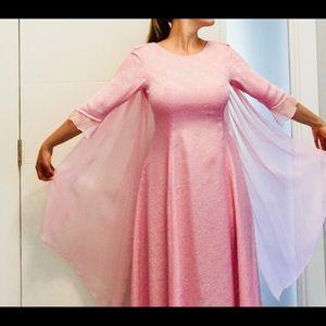 Maxi dress in peach, size small.