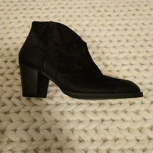Paul Green black suede boots sz 9.5