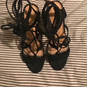 LOFT lace up heeled sandals