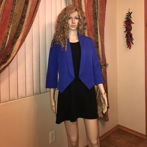 Forever young dress blue jacket sz lrg blk dress