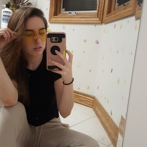 Yellow clear sunglasses