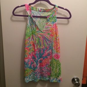 Lilly Pulitzer Arya tank in Lovers Coral
