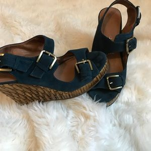 Jeffrey Campbell wedges, blue, Sz 7