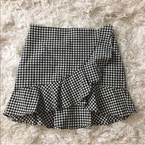 H&M - Black and white gingham skirt