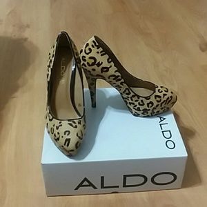 Cheetah Print Aldo Pumps