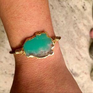 Boutique green stone bracelet