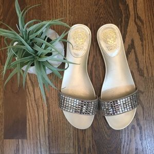 Vince Camuto Sparkly Slip On Sandals